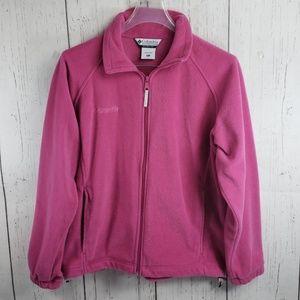 Columbia Fleece Full Zip Sweater Pink L